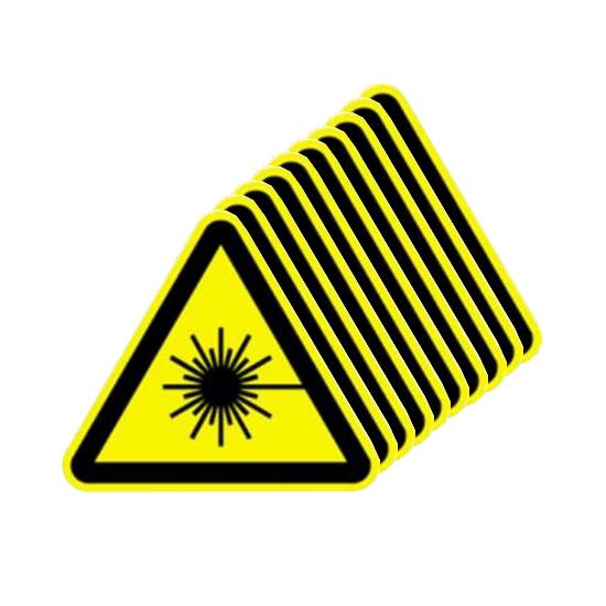 Picotronic Label WARNZEICHEN-LASERSTRAHLUNG-SET10