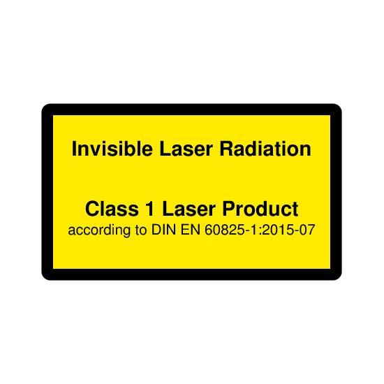 Picotronic LABEL-DIN-CLASS1-IR-EN