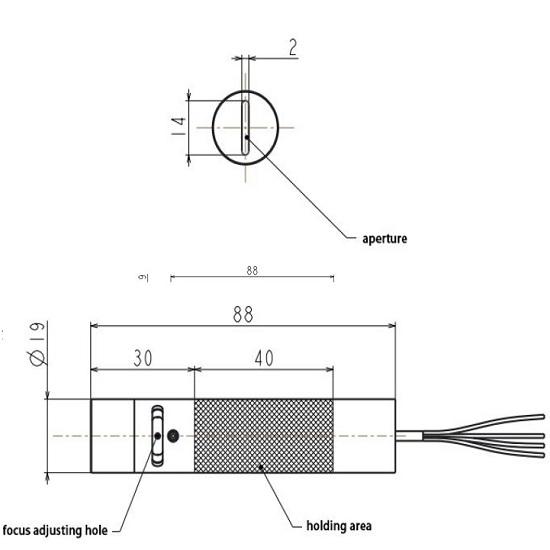 Picotronic Laser LB808-50-24(19x88)75DEG-PWL-TTL