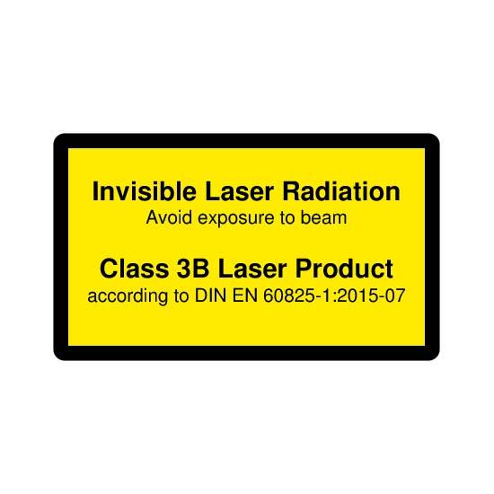 Picotronic LABEL-DIN-CLASS3B-IR-EN