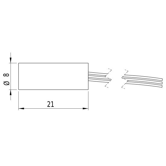 Picotronic Laser DI650-0.4-5(8x21)-ADJ-C145-JST