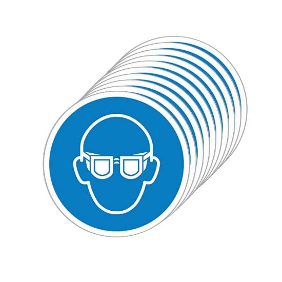 Picotronic Label GEBOTSZEICHEN-SCHUTZBRILLE-SET10